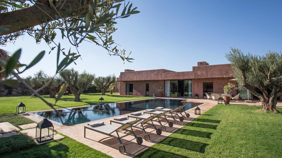 Location de villa marrakech villa de luxe marrakech for Villa jardin nomade