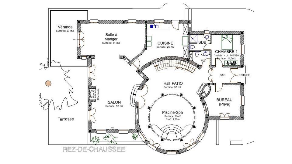 photos de la villa villa toscane essaouira villanovo. Black Bedroom Furniture Sets. Home Design Ideas