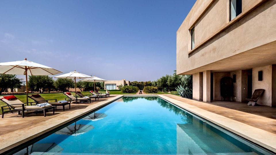 Villa noor palmeraie marrakech palmeraie et environs for Villa a marrakech avec piscine