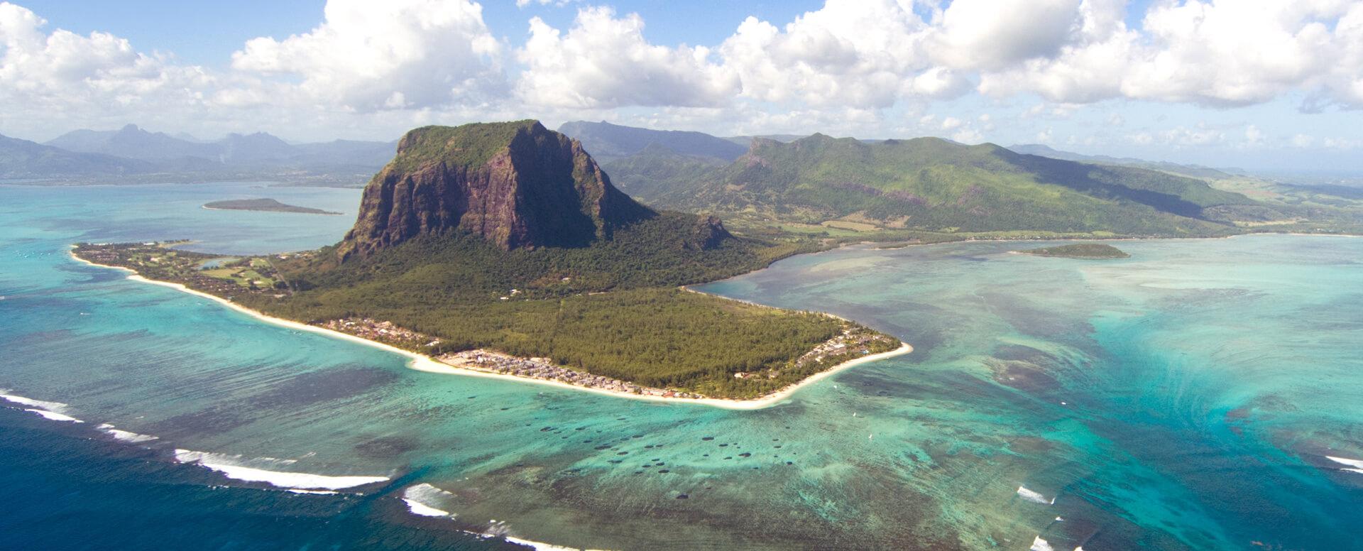La cascade sous-marine - Île Maurice