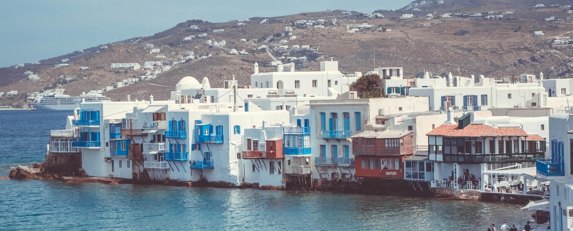 8. Serpenter dans la petite Venise de Mykonos - Cyclades - Autres îles