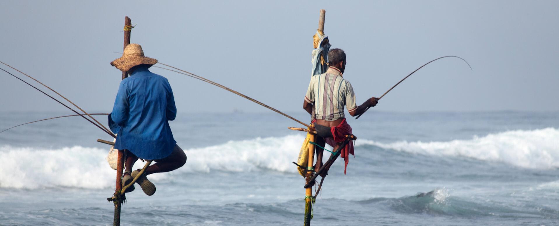 La pêche à Ahangama - Sri Lanka