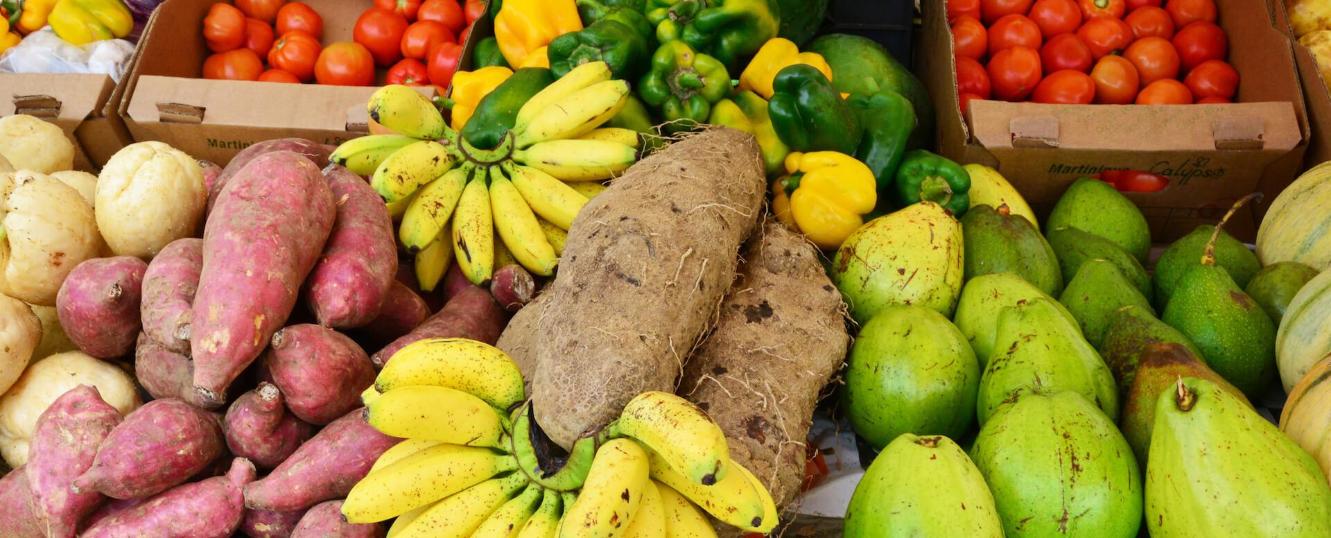Fruits et légumes sur l'île - Martinique