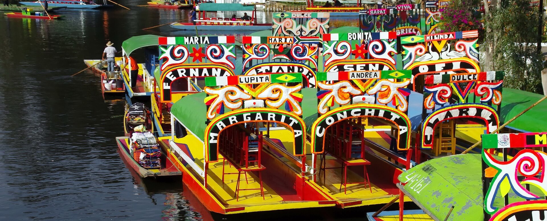 Réaliser une balade en bateau à Xochimilco, Mexico - Mexique