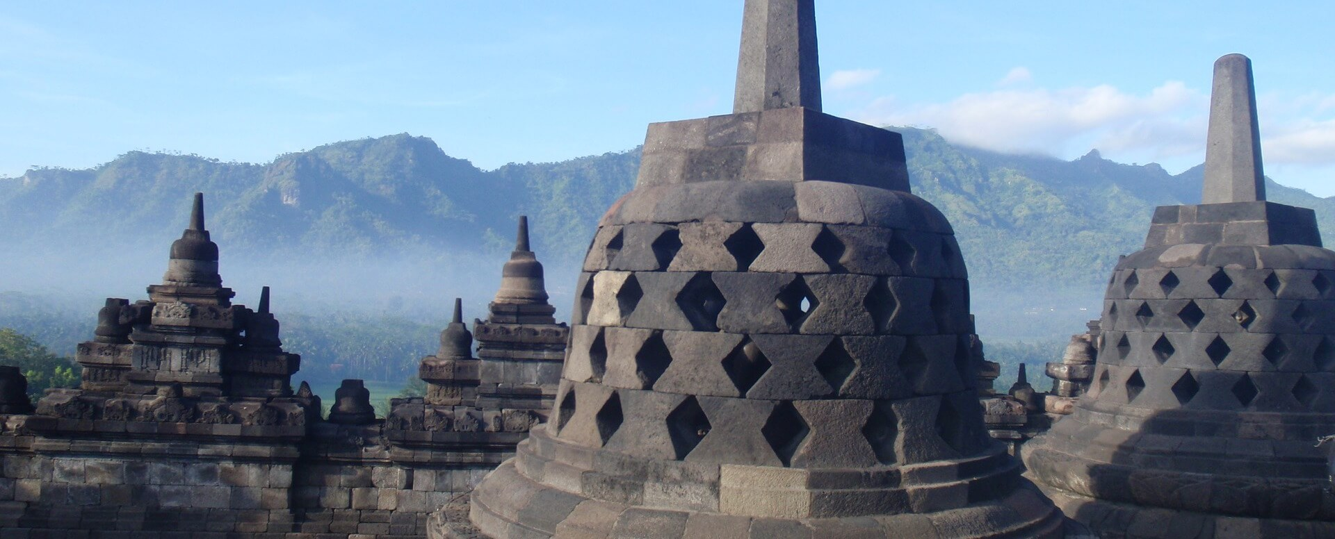 Visiting the temples - Indonesia