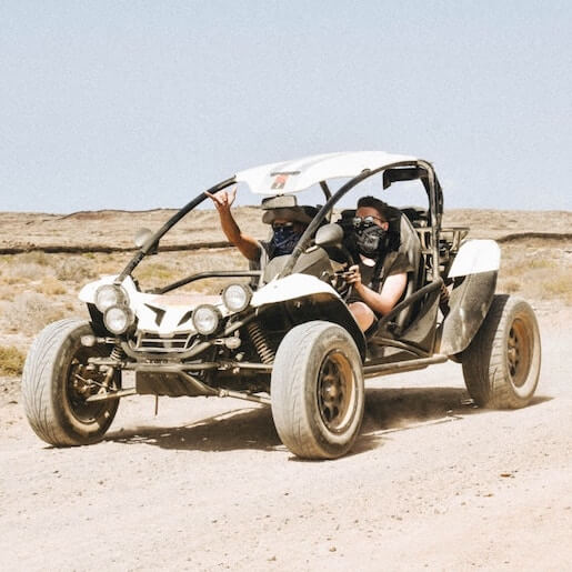 Buggy in the Rock Desert and Jbilets Mountains