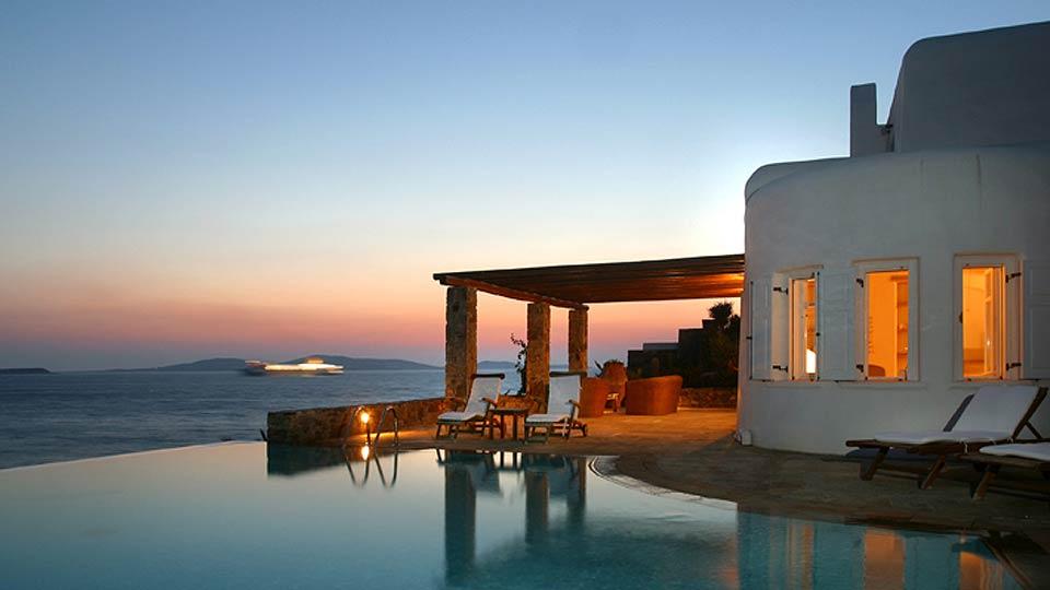 location de villa mykonos villa de luxe mykonos avec villanovo. Black Bedroom Furniture Sets. Home Design Ideas