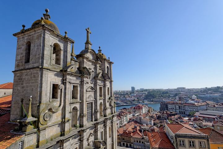 In the city of the famous wine of Porto