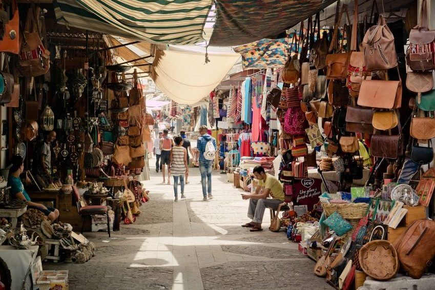 Stroll through the traditional markets and souks of the Medina