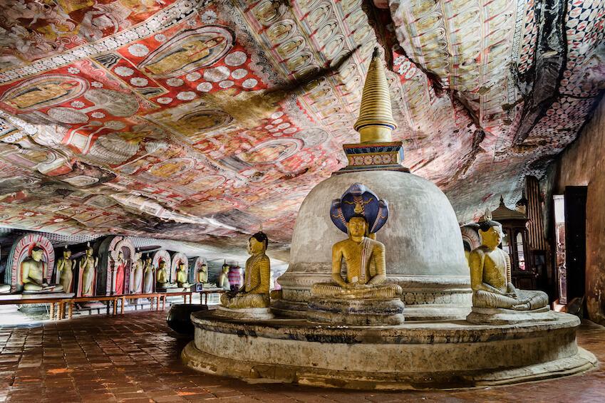 The golden temple of Dambulla - Sri Lanka