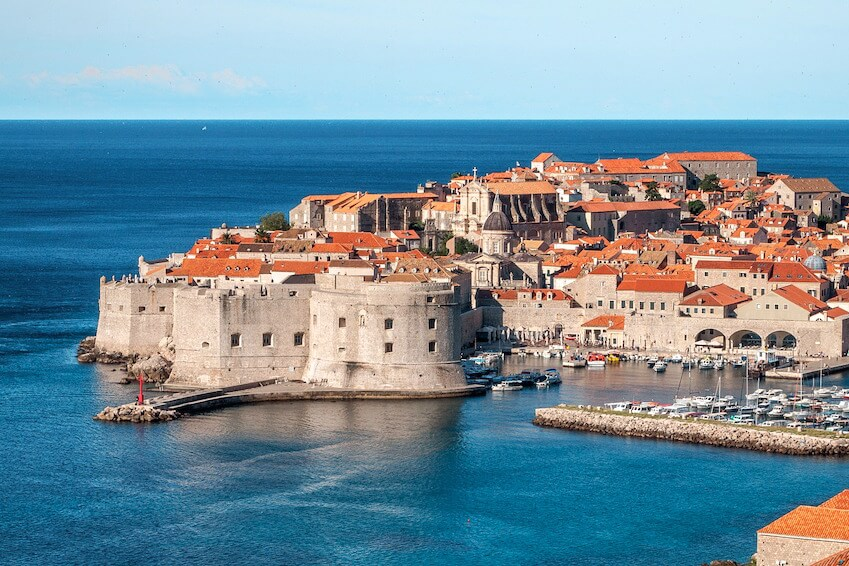 7) Admiring Dubrovnik from the sky