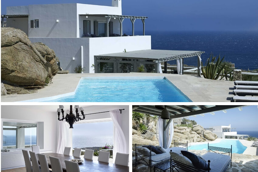 3- Embark on Greek Isles and stay in Paradise Estate in Mykonos