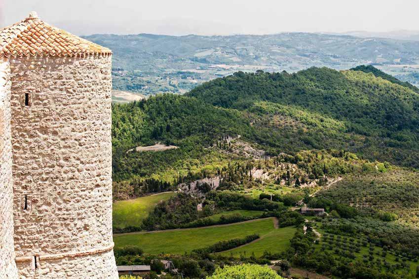 Castello Perugia, Ombrie, Italie