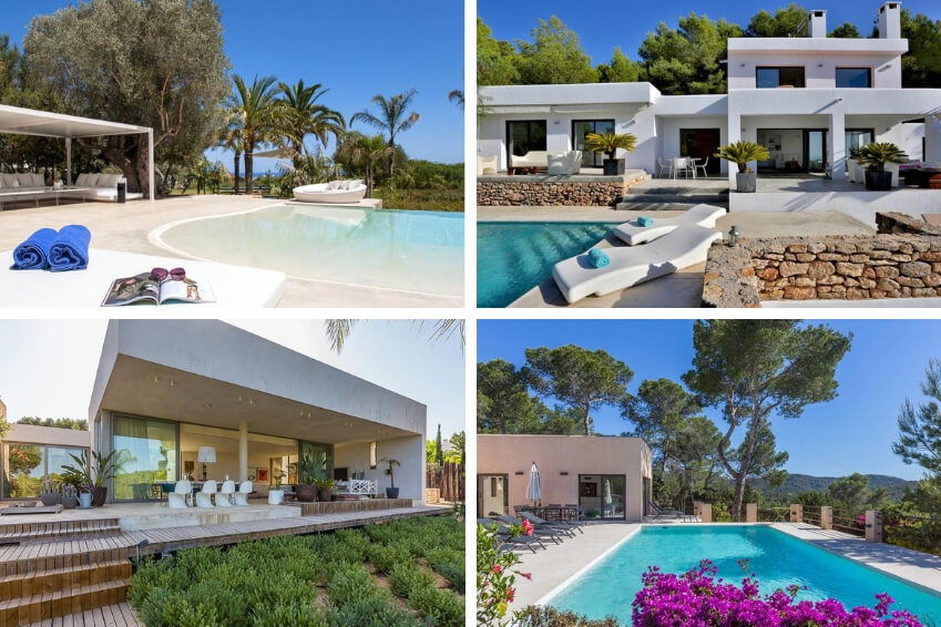 A great diversity of villas