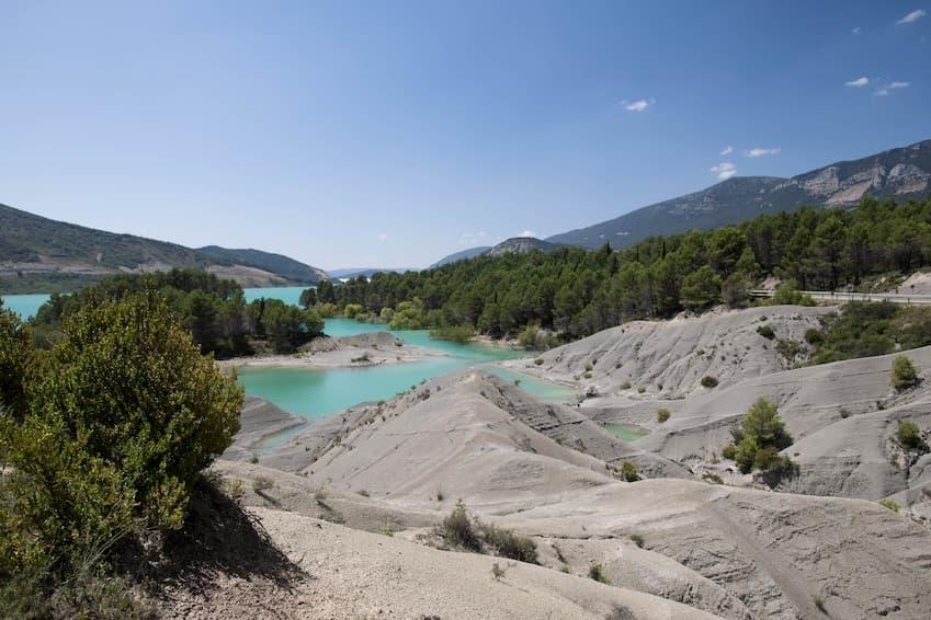 Lac de Yesa, Pyrénées. Espagne