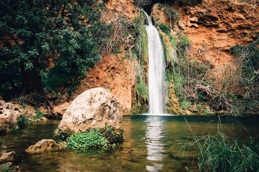 Cascata Queda do Vigário, Alte, Algarve, Portugal
