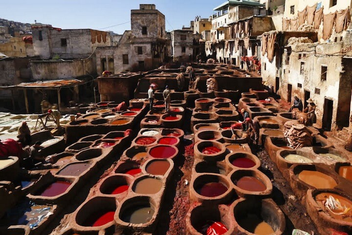 7. Morocco's largest open-air tannery