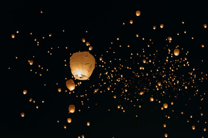 Yi Peng or Krathong Law, the lantern festival