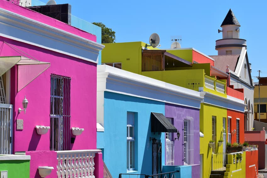 The Bo-Kaap district: a very colourful complex