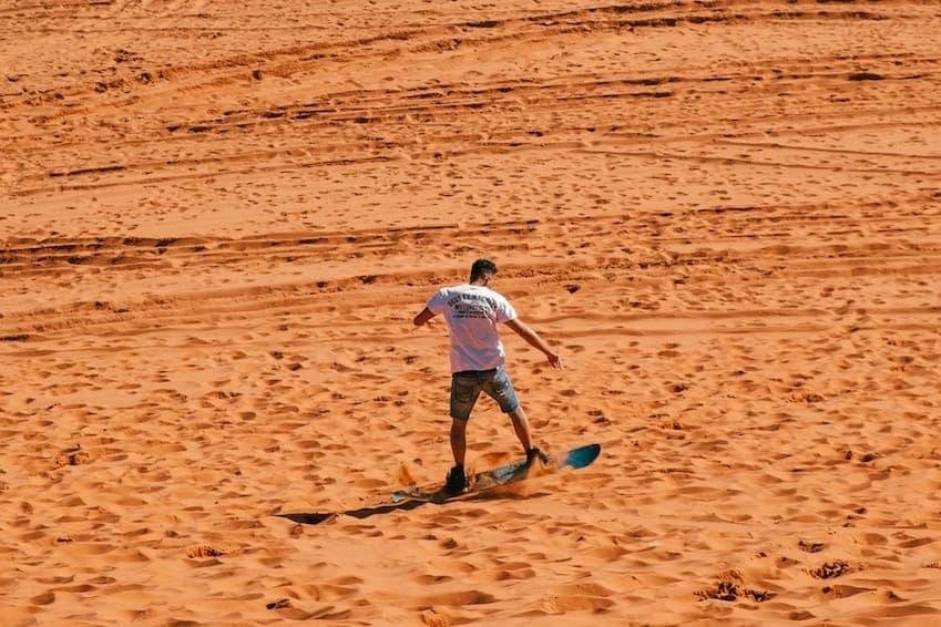 What is sandboarding?