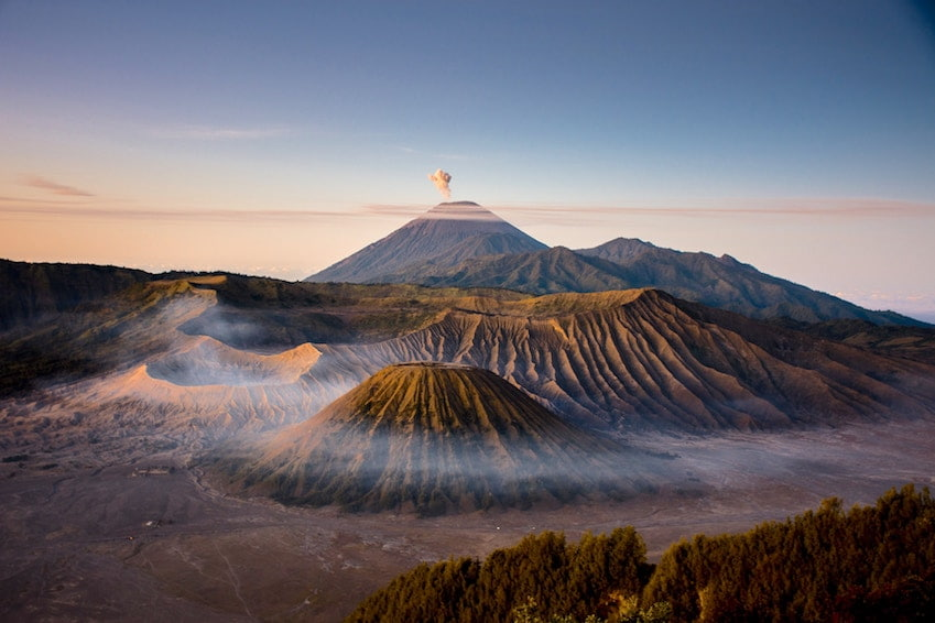 Mount Bromo, the most active