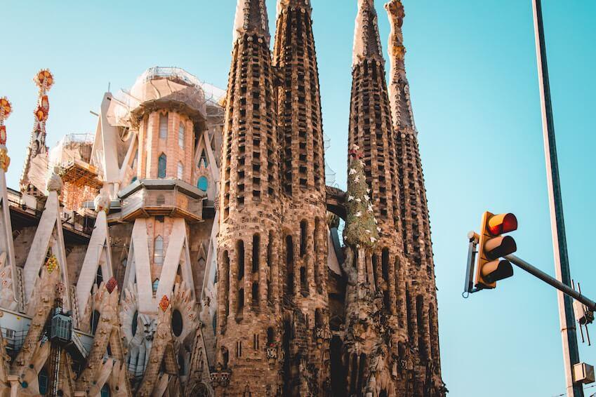 1) La Sagrada Familia in Barcelona