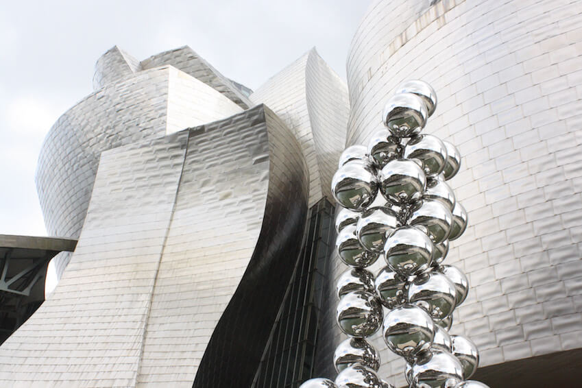 2) The Guggenheim museum in Bilbao