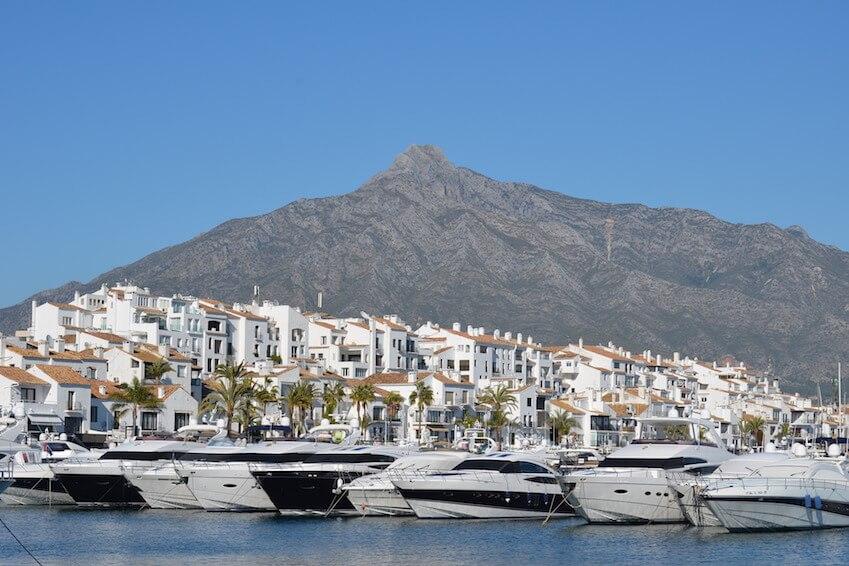 3) Sip a cocktail in Puerto Banus Marina in Marbella