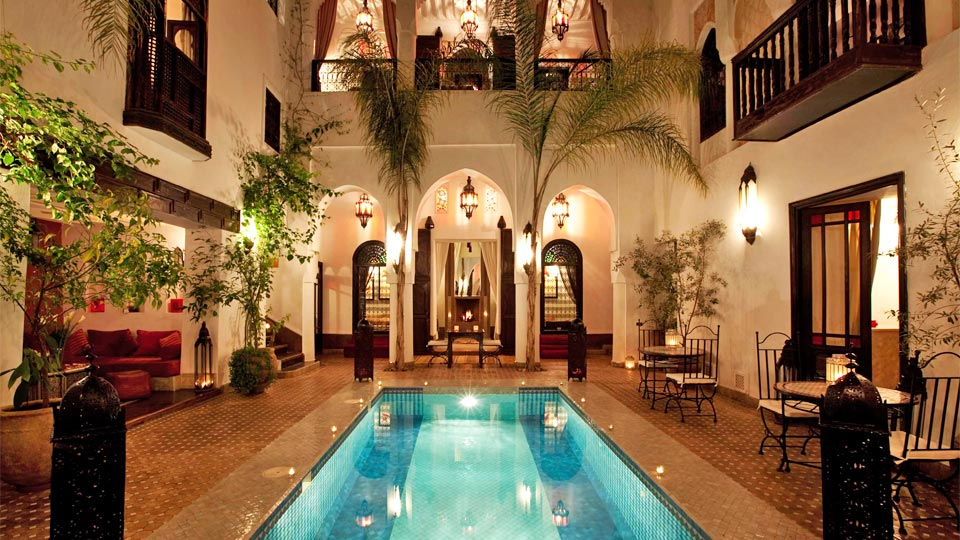 Riad assouel villa rental in marrakech medina villanovo for Hotel de charme marrakech avec piscine
