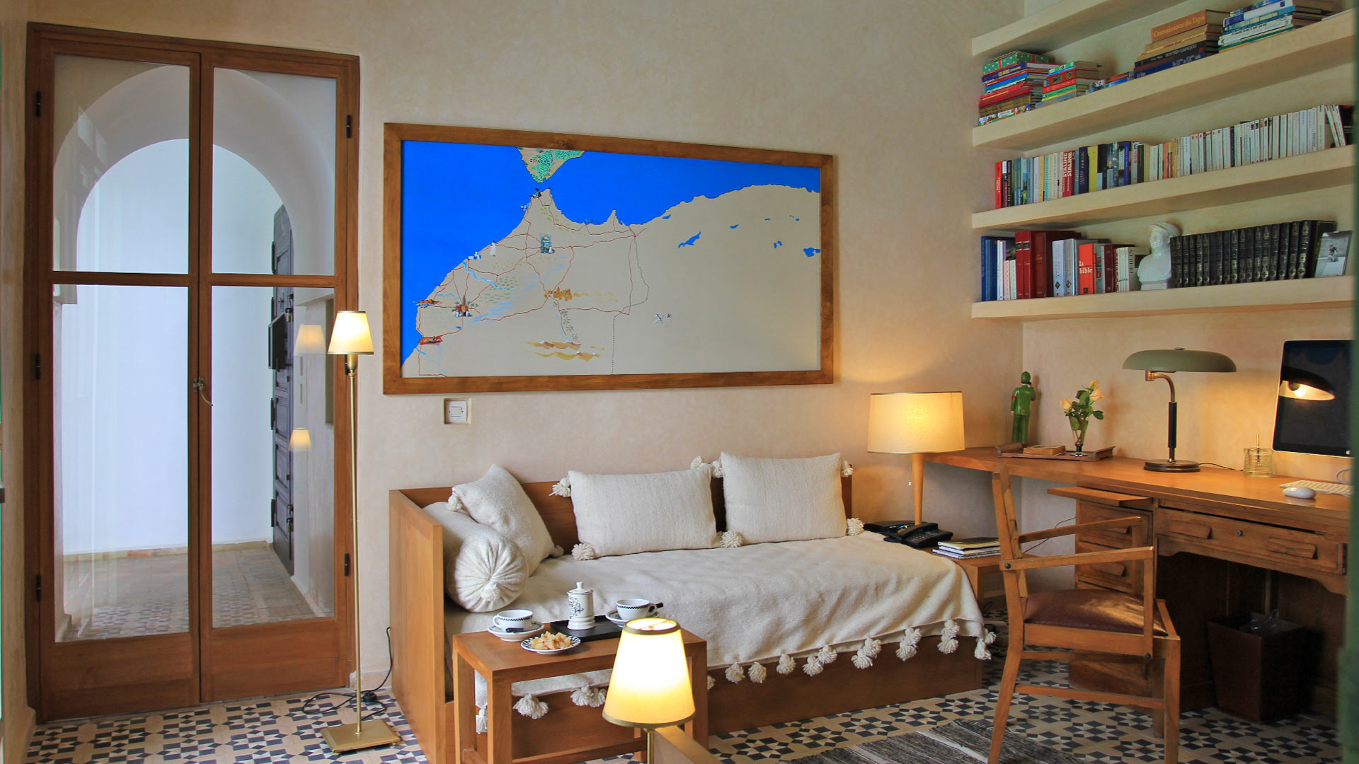 photos de la villa riad kerkeden marrakech villanovo. Black Bedroom Furniture Sets. Home Design Ideas