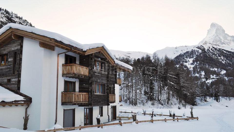 Chalet wolfcreek villa louer alpes suisses zermatt for Piscine zermatt