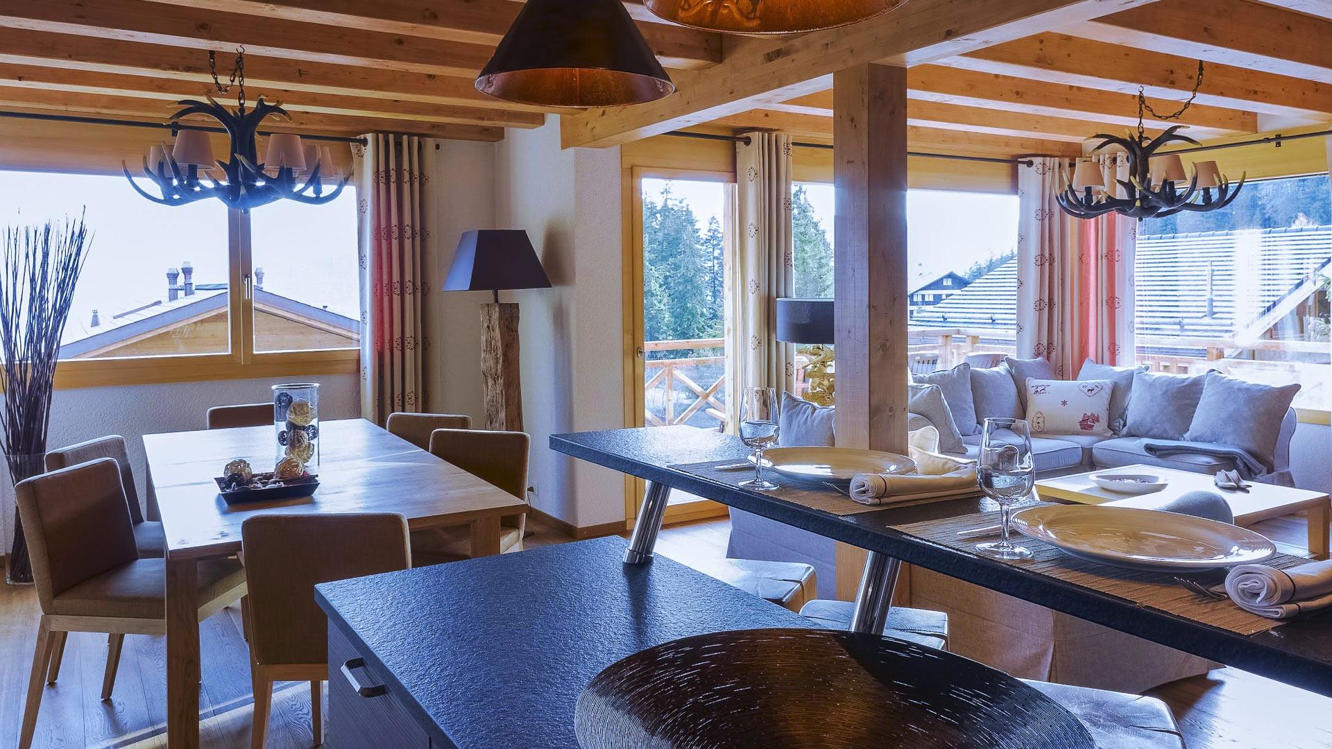 Villa Chalet la Licorne, Location à Alpes suisses