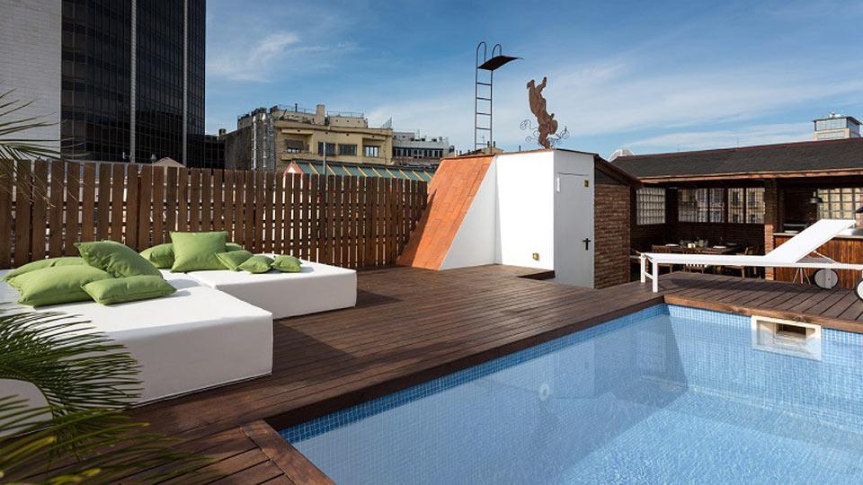 Balmes 1 villa louer barcelone eixample villanovo - Location maison avec piscine barcelone ...