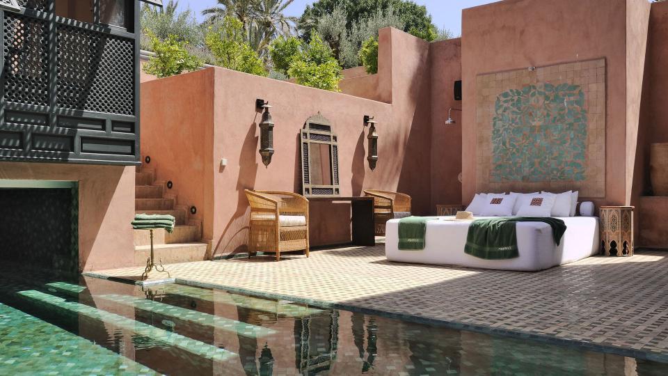 Louer une villa ou un riad marrakech avec piscine for Riad piscine privee marrakech