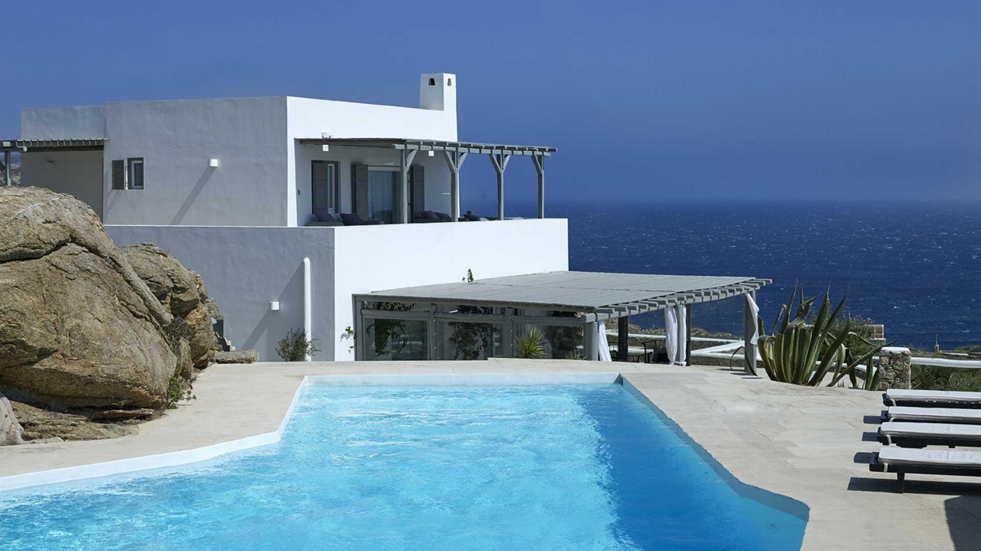 Mykonos Sea View Luxury Villa Swimming Pool