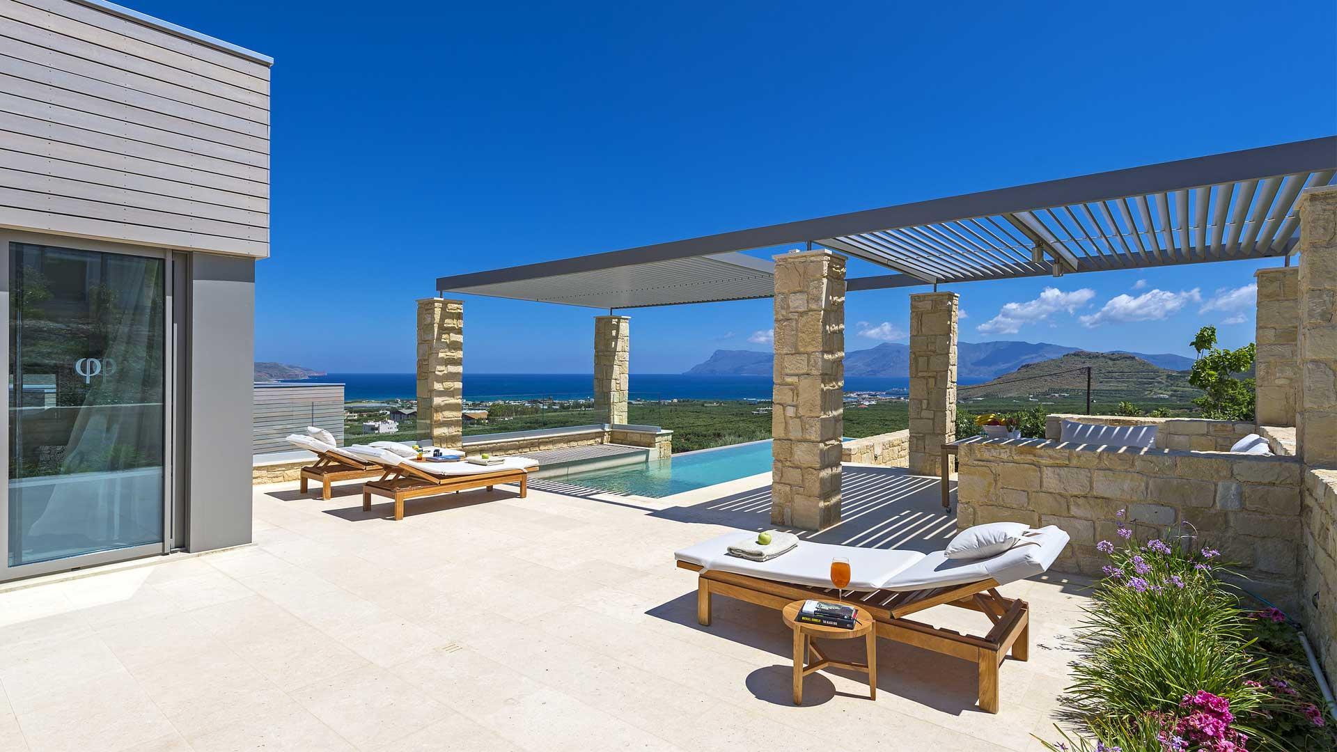 villa abyss villa louer crete chania villanovo. Black Bedroom Furniture Sets. Home Design Ideas