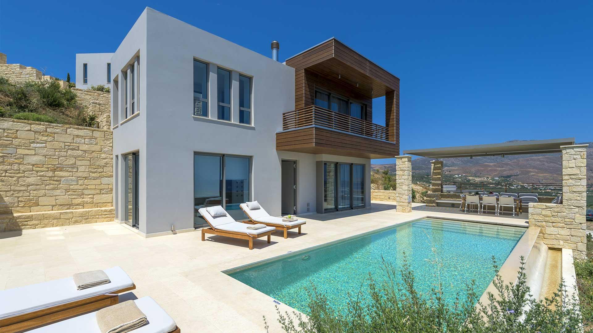 villa harmona villa louer crete chania villanovo. Black Bedroom Furniture Sets. Home Design Ideas