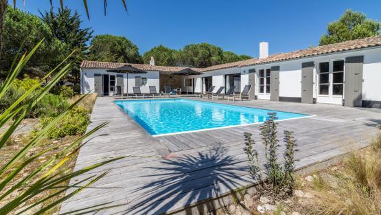 Souvent Location de villa à l'Ile de Ré, Villa de luxe à l'Ile de Ré avec  LH25