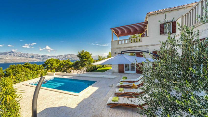 location de villas avec piscine en croatie villanovo