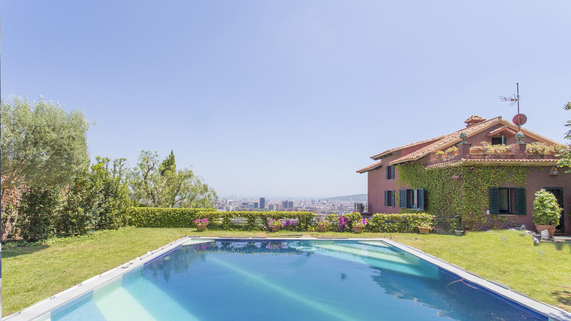 Villa horizonte alquiler de casa en barcelona pedralbes for Casa con jardin alquiler barcelona