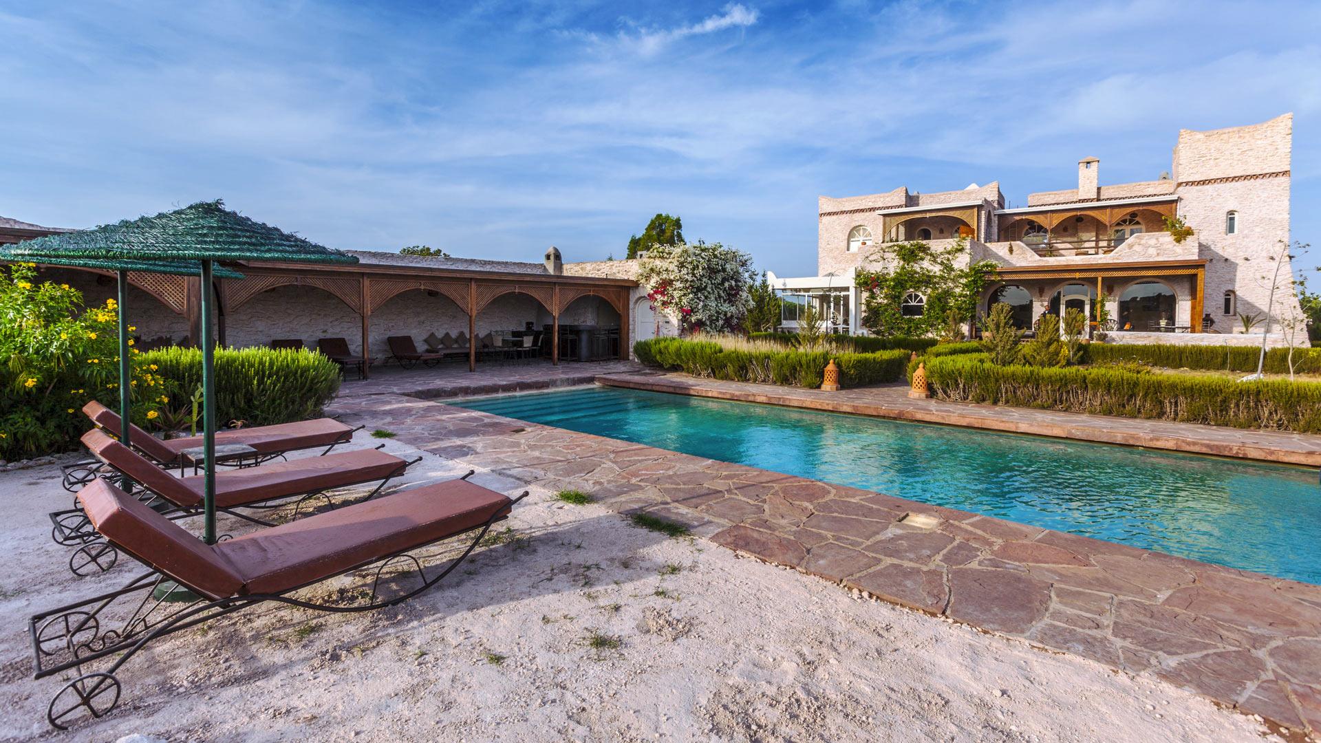 Villa des romarins villa louer essaouira en dehors - Les jardins de villa maroc essaouira ...