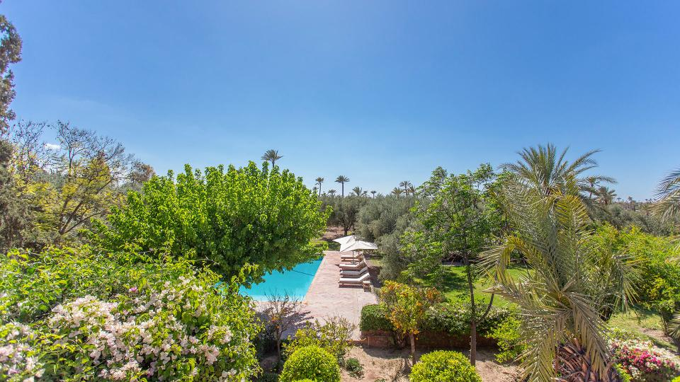 Villa Jnane Rommane, Location à Marrakech